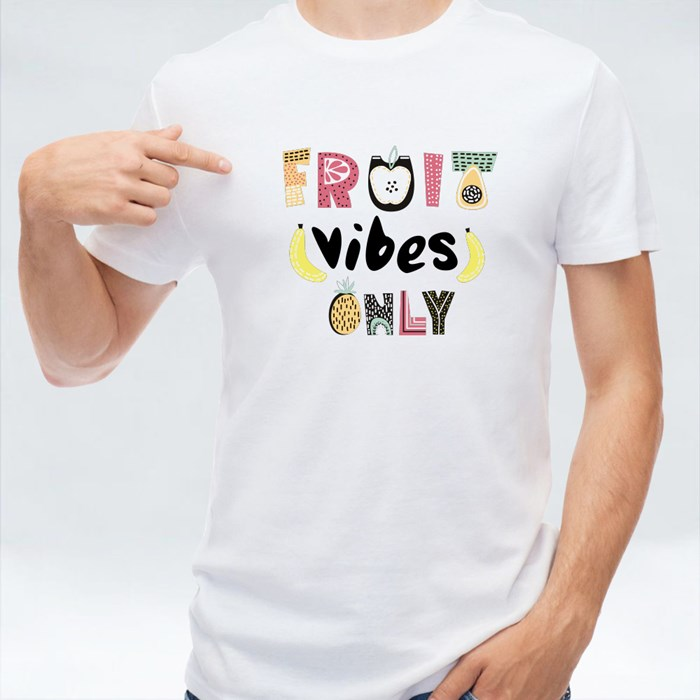 Fruit Vibes Only Text T-Shirts