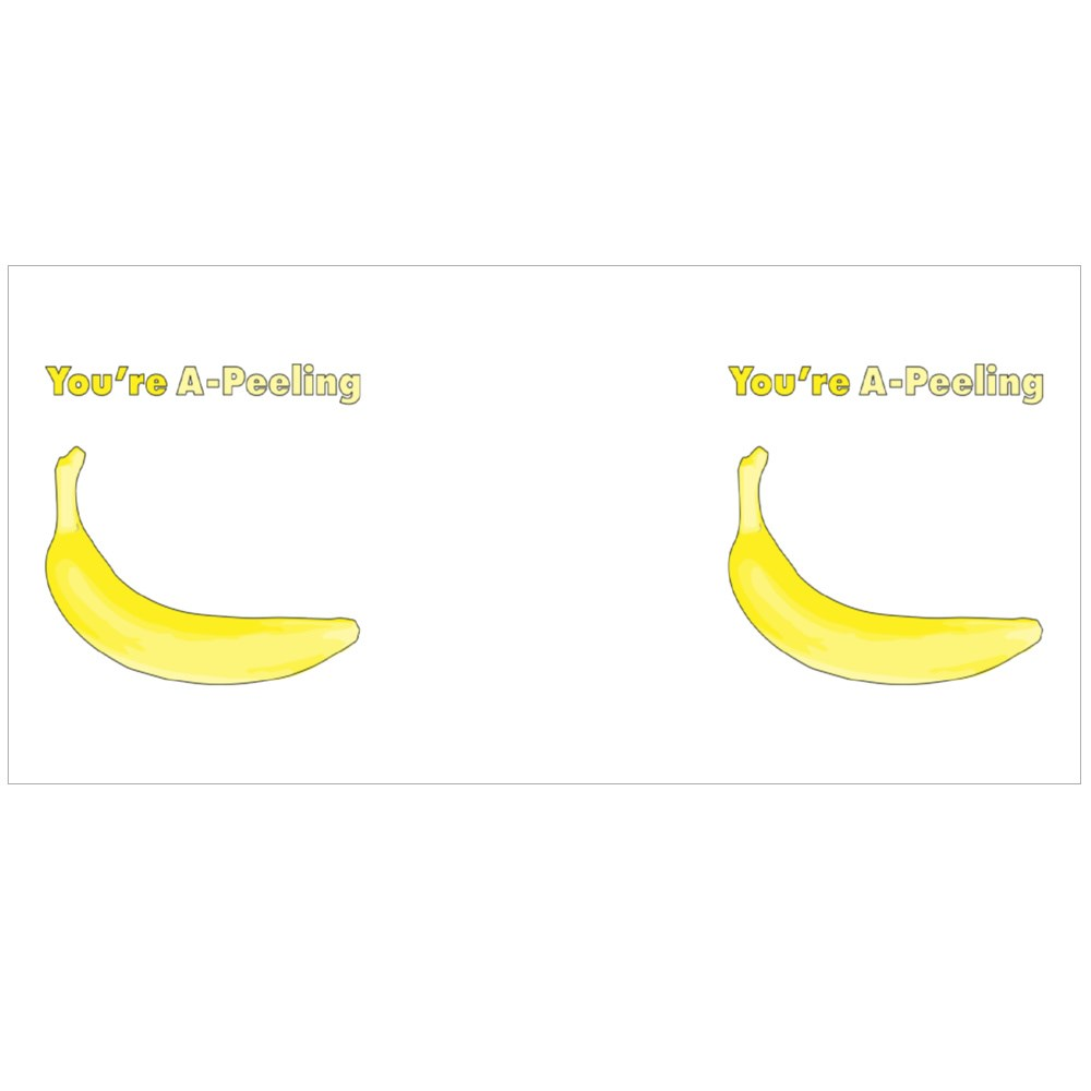 Vectorized Banana With Pun That Says You're A-Peeling Colour Mugs