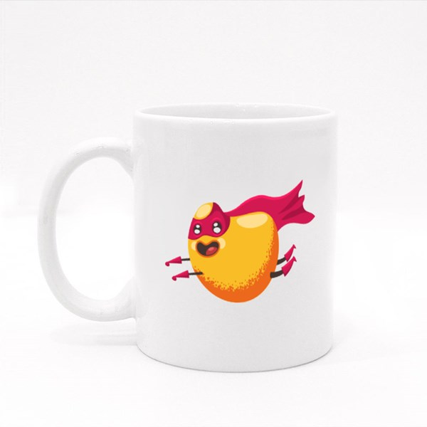 Cute Mango Superhero Colour Mugs