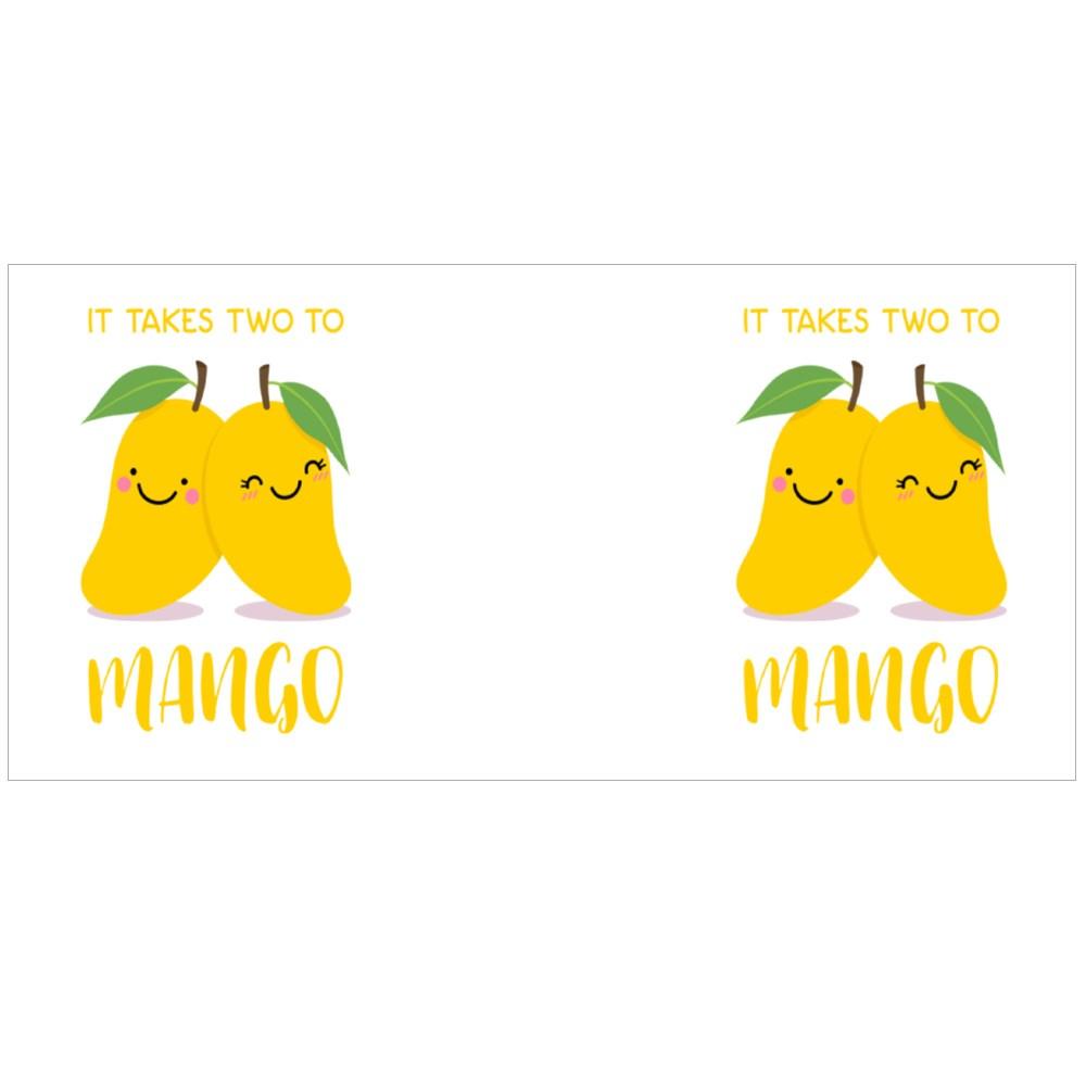 It Takes Two to Mango Colour Mugs
