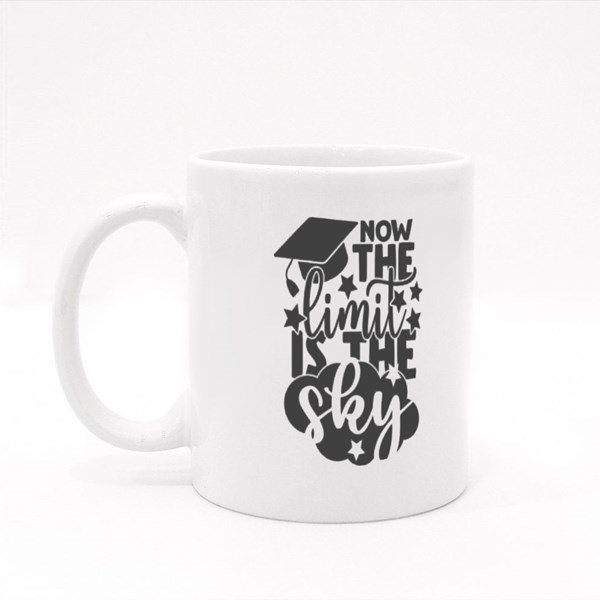 Now the Limit Is the Sky | Graduation Quote Colour Mugs