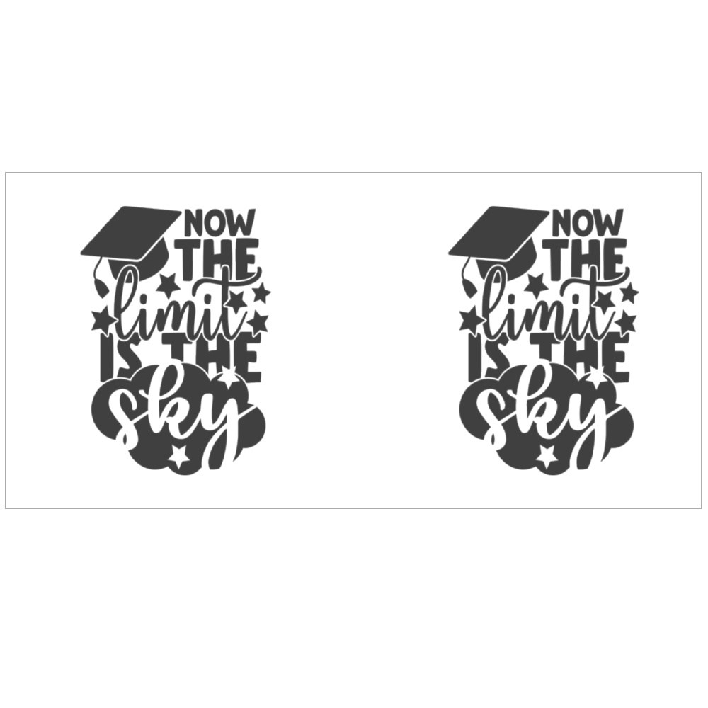 Now the Limit Is the Sky   Graduation Quote Colour Mugs