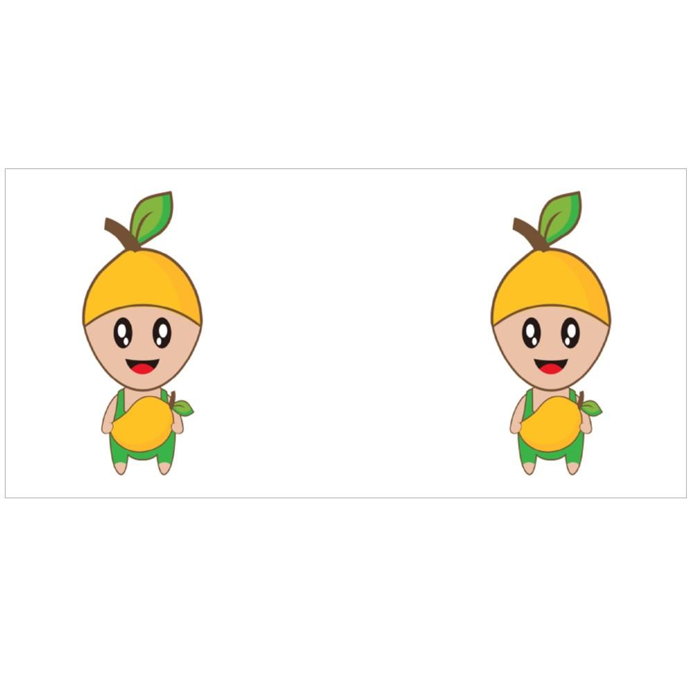 Cute Mango Fruit Mascot Colour Mugs