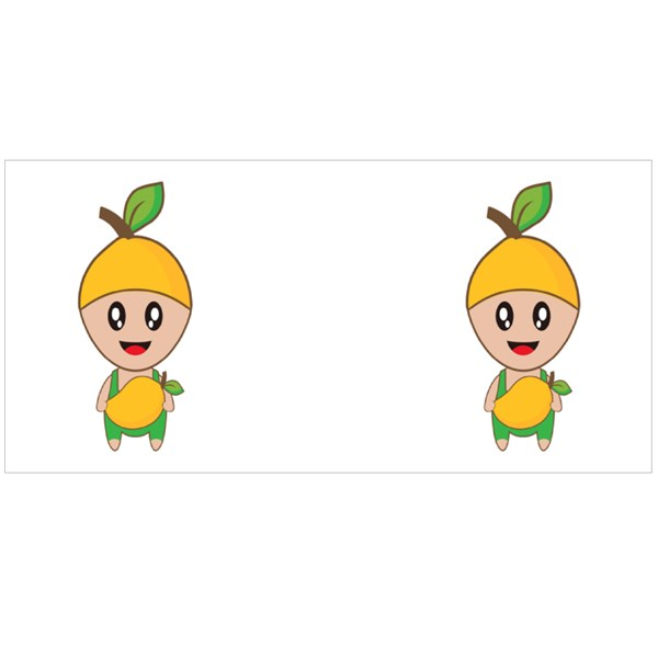 Cute Mango Fruit Mascot Colour Mugs