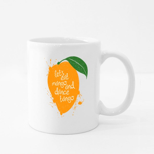 Let's Eat Mango and Dance Tango Colour Mugs
