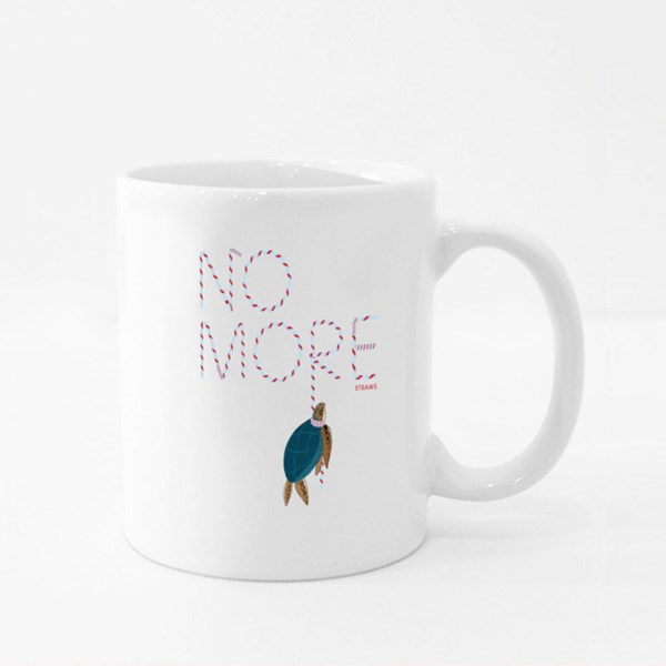 No More Straws to Save the World Colour Mugs