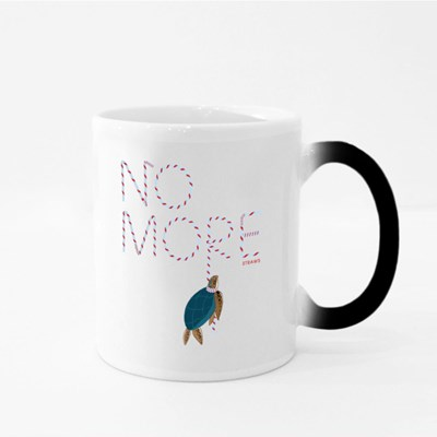 No More Straws to Save the World Magic Mugs