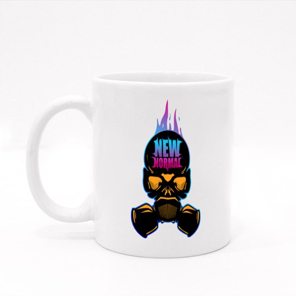 New Normal Skull Ready to Print on Tshirt or Other Colour Mugs