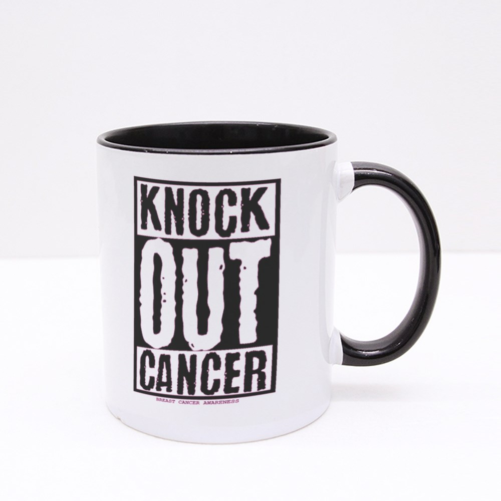 Knock Out Cancer Colour Mugs