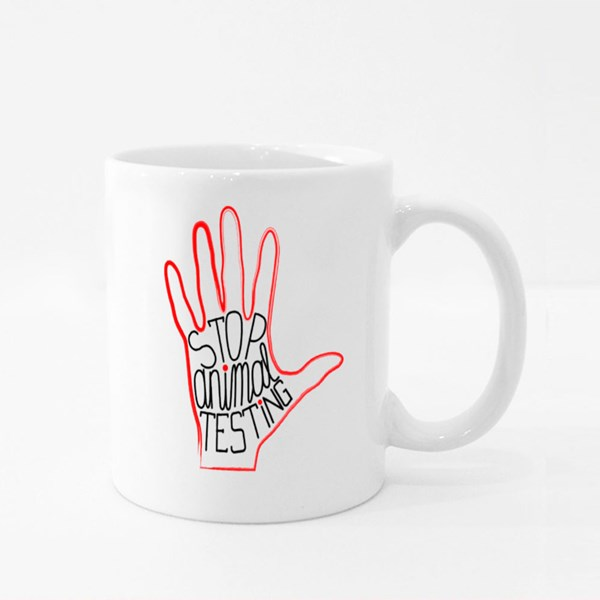 Stop Animal Testing Colour Mugs