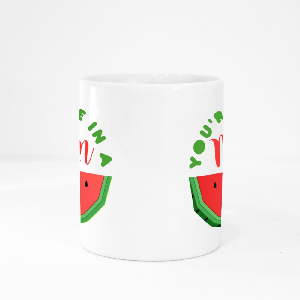 You're One in a Melon Colour Mugs