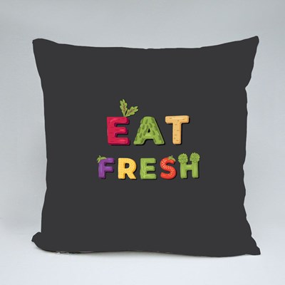 Eat Fresh - Lettering Throw Pillows