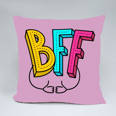 Bff - Best Friends Forever Throw Pillows