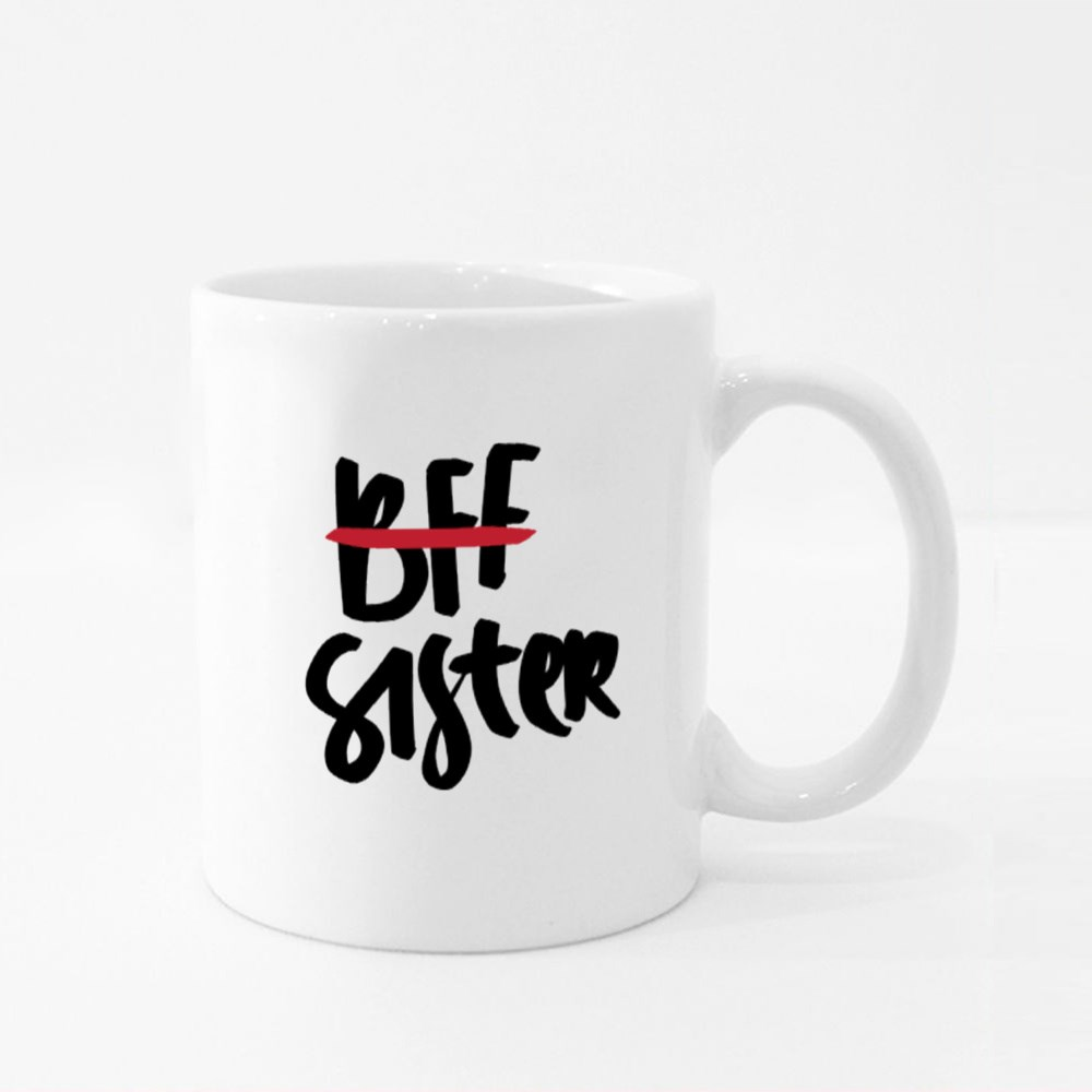 Bff. Best Friends Forever. Sister Colour Mugs