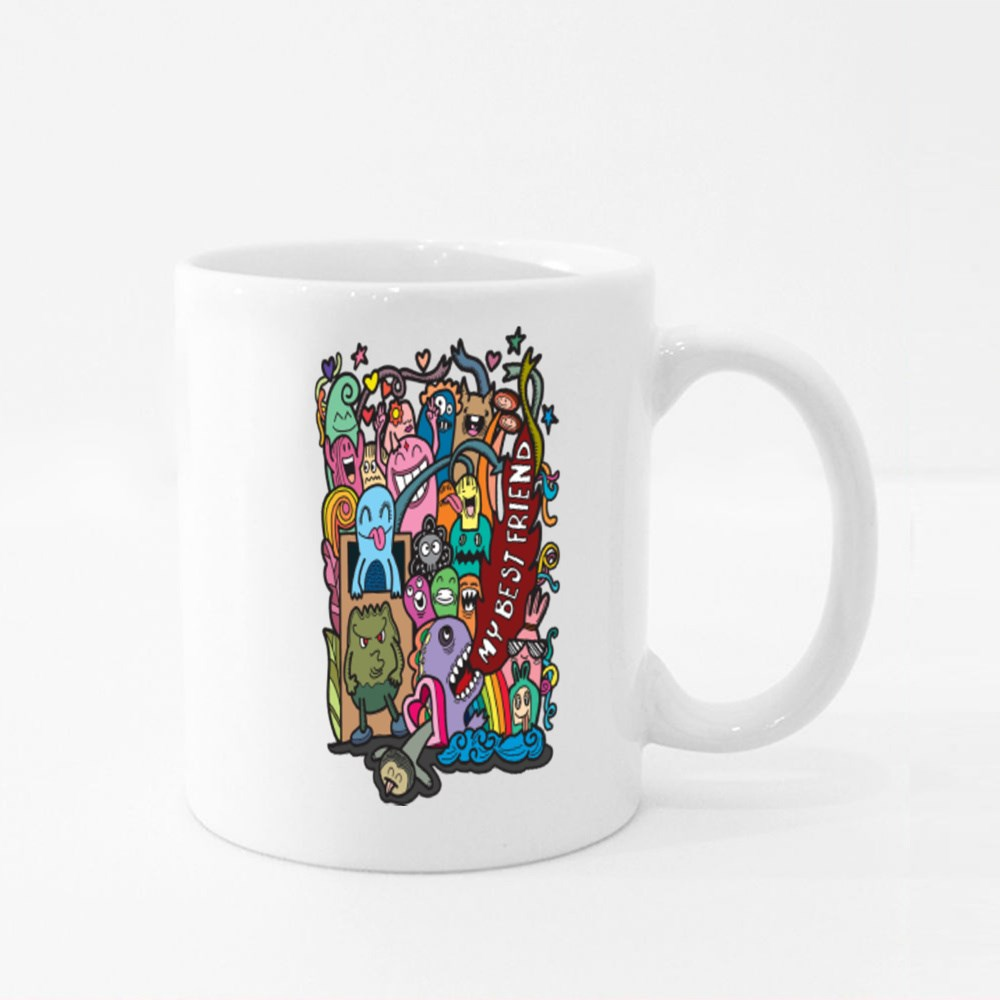 Happy Friendship Day Colour Mugs