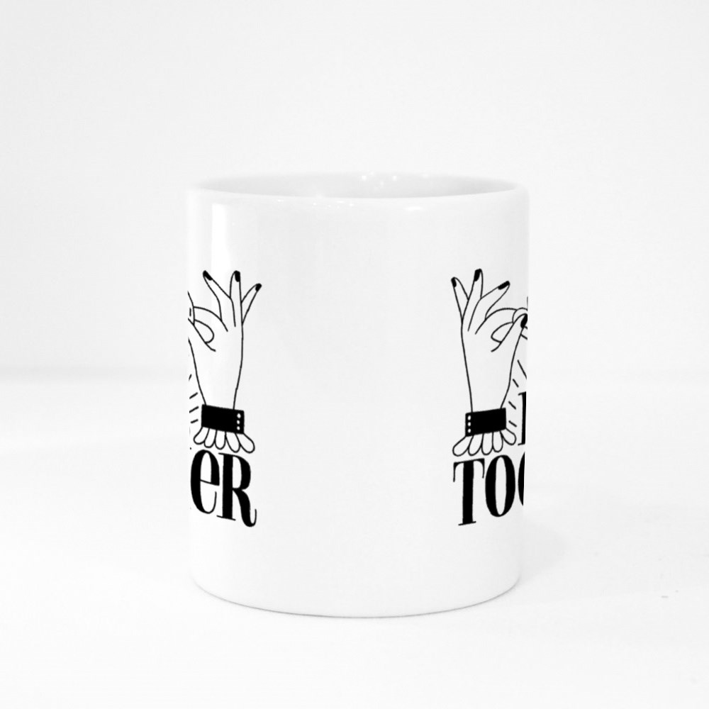 Better Together. Hand-Drawn Lettering Colour Mugs