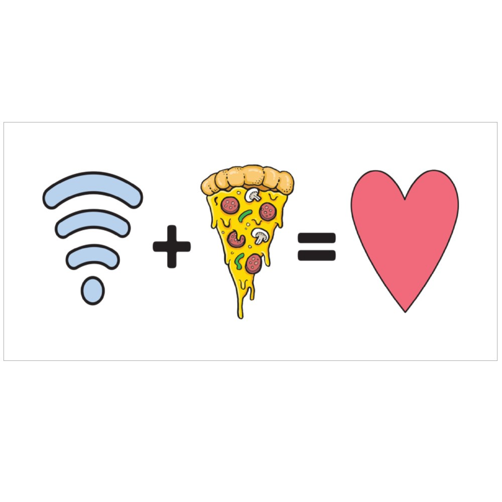 Wifi and Pizza, My True Loves Colour Mugs