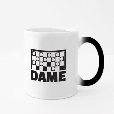 Checkers Game With German Word Magic Mugs