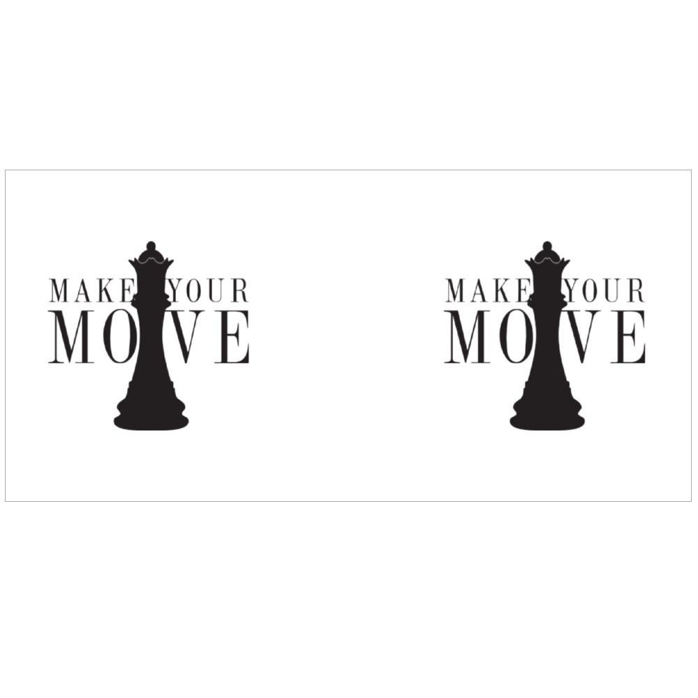 Make Your Move Chess, Sign Colour Mugs