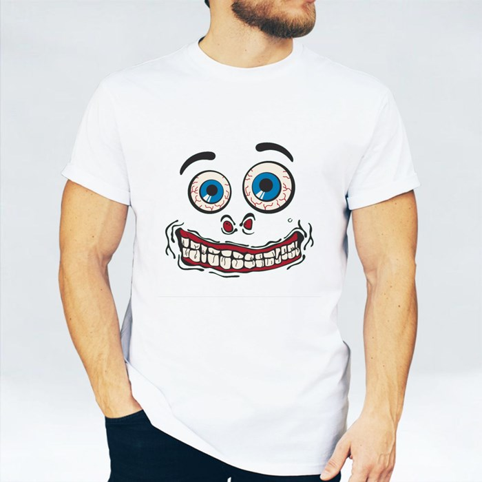 Silly Face Tshirt Graphic - Green T-Shirts