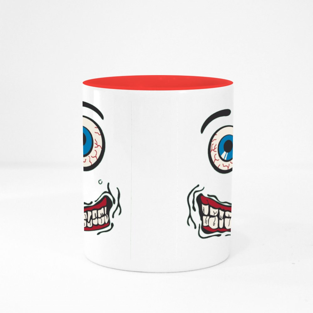 Silly Face Tshirt Graphic - Green Colour Mugs