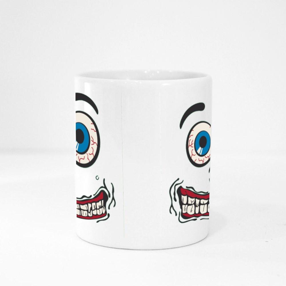 Silly Face Tshirt Graphic - Green Magic Mugs