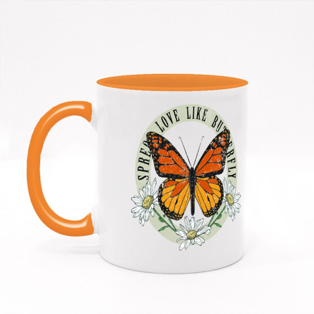 Butterfly Daisy Wild Flower Tshirt Graphicsdesigns Colour Mugs
