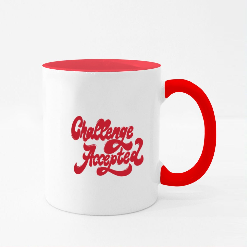 Challenge Accepted. 90'S Style Colour Mugs
