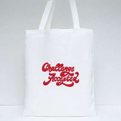 Challenge Accepted. 90'S Style Tote Bags