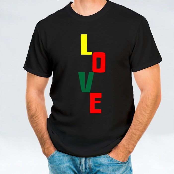 Love Vertical Lettering T-Shirts