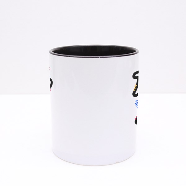 Normal People Are So Weird. Funny Hand Written Saying. Colour Mugs