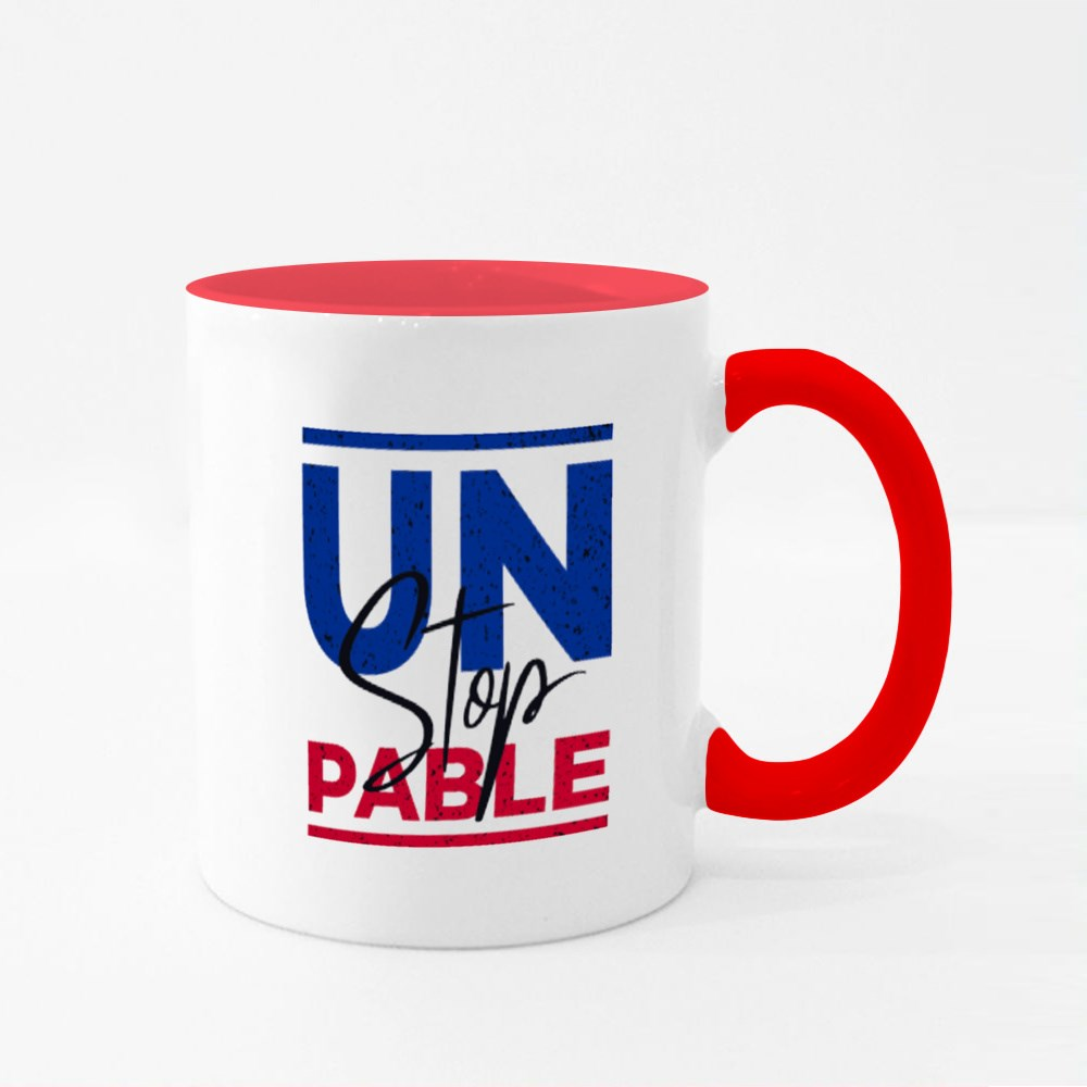 Unstoppable in Red and Blue Colour Mugs