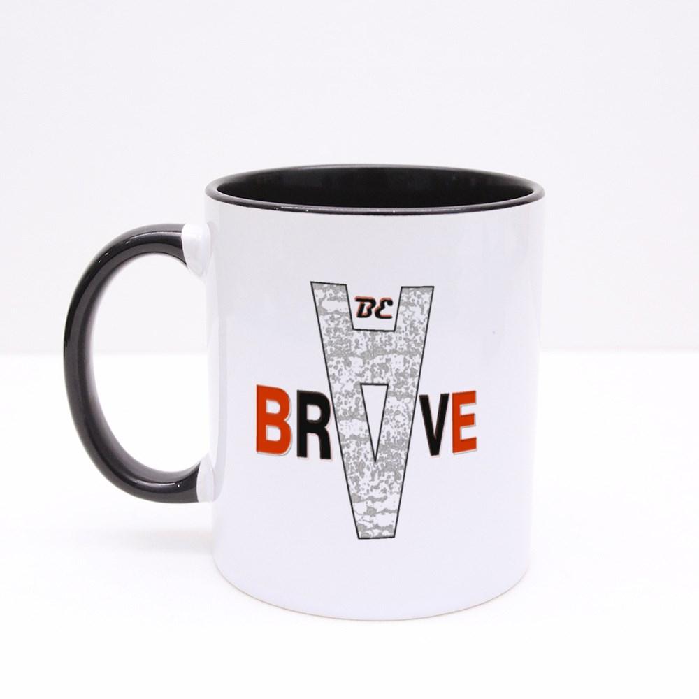 Be Brave Slogan Graphic Typography Design,Artistic Concept Colour Mugs