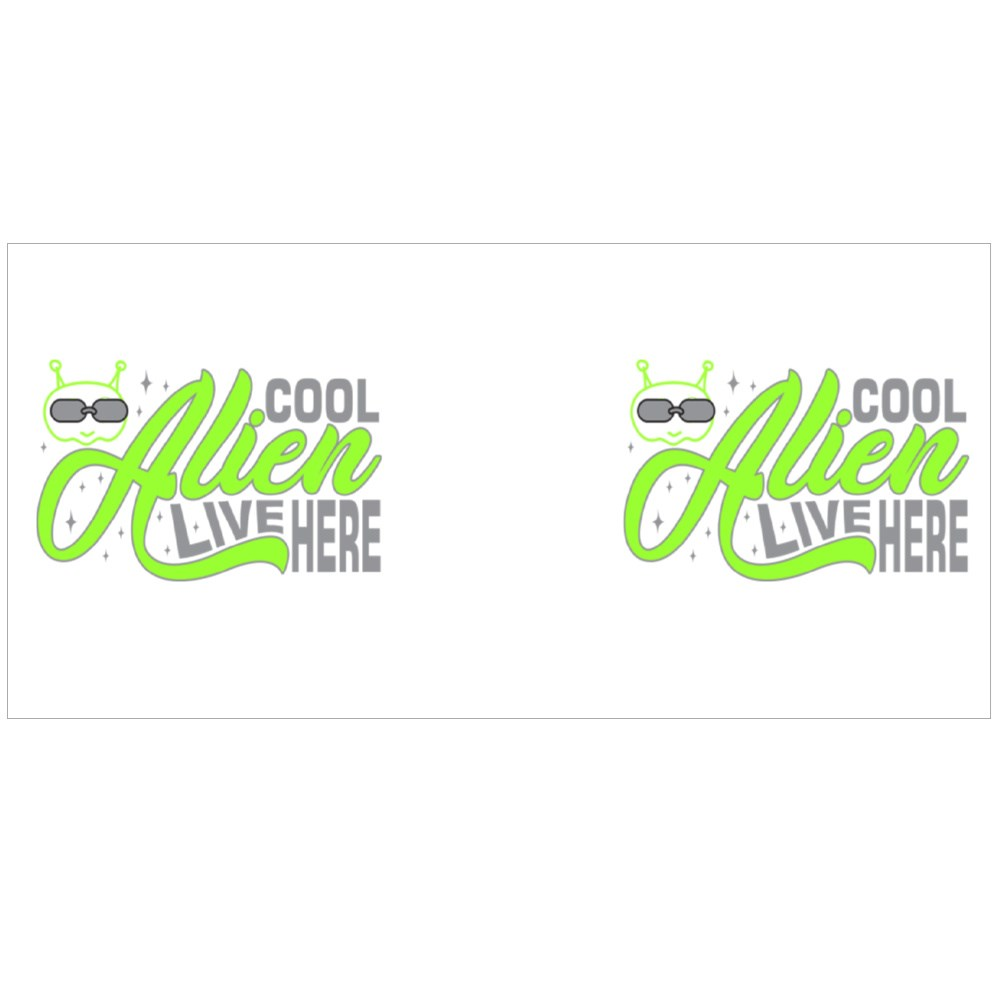 Aliens Quotes and Slogan Good for T-Shirt. Cool Alien Live Here. Colour Mugs