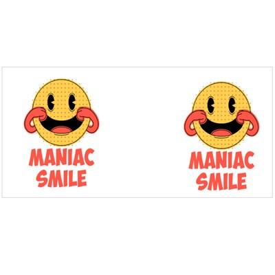 Maniac Smile. Prints on T-Shirts, Sweatshirts, Cases for Mobile Phones Magic Mugs