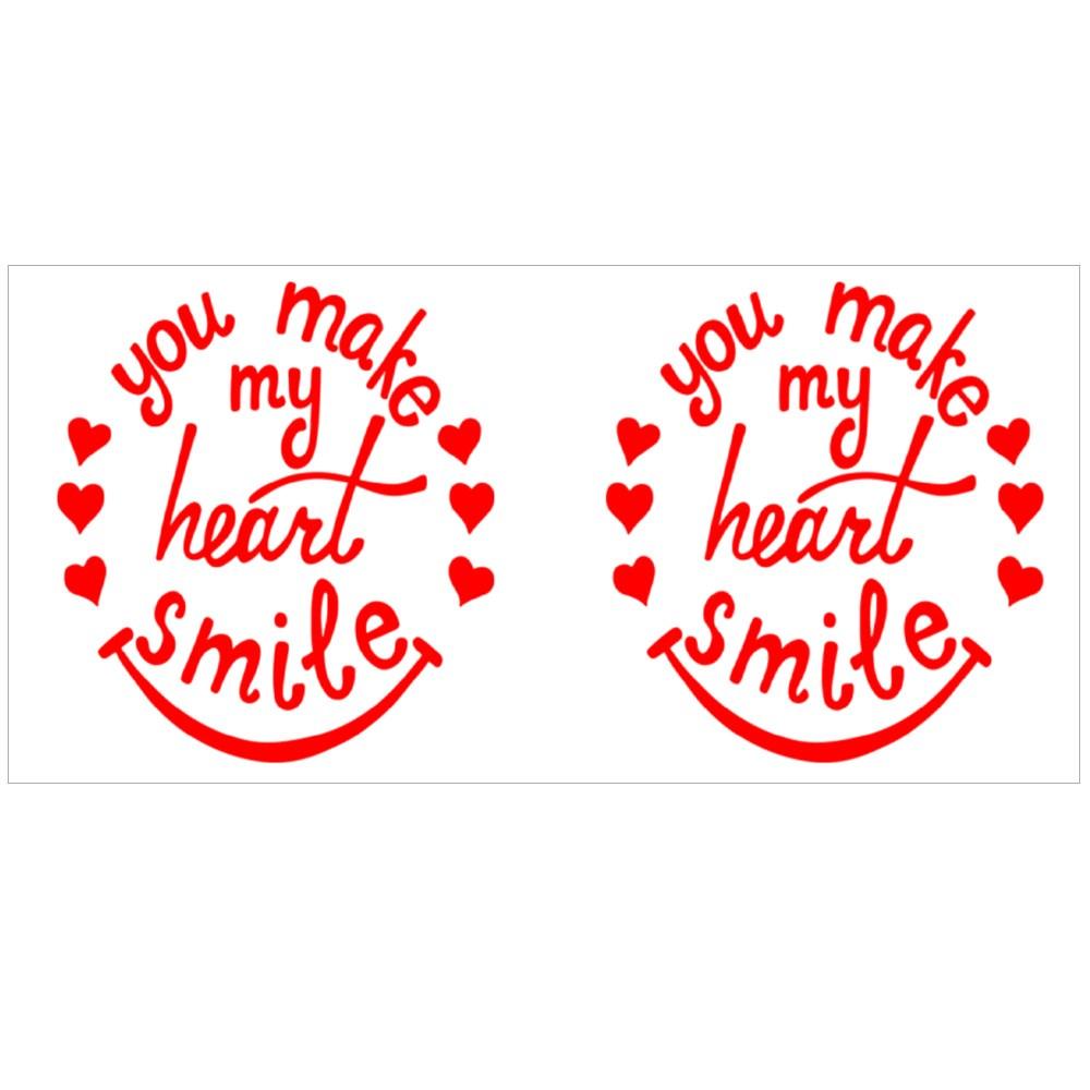 You Make My Heart Smile Lettering. Magic Mugs