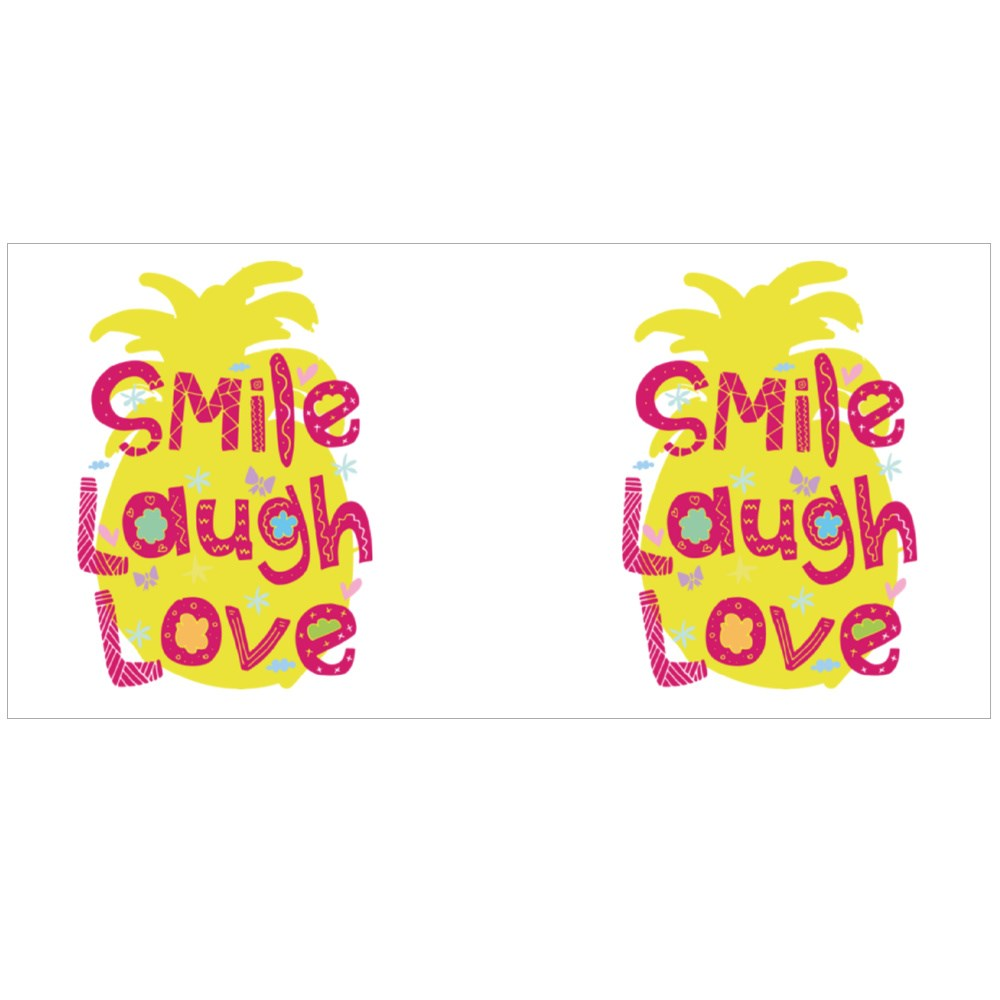 Cute Typography Smile Laugh Love Magic Mugs