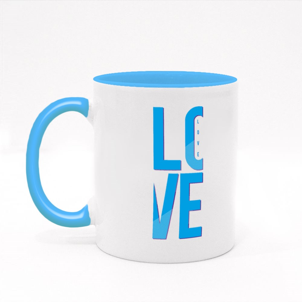 Love Typography, T-Shirt Graphics, Vectors, Girl Colour Mugs