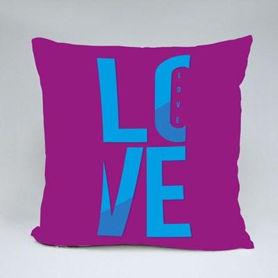 Love Typography, T-Shirt Graphics, Vectors, Girl Throw Pillows