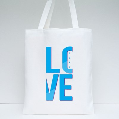 Love Typography, T-Shirt Graphics, Vectors, Girl Tote Bags