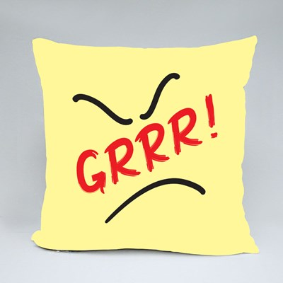 Grrr! - Quote Lettering Throw Pillows