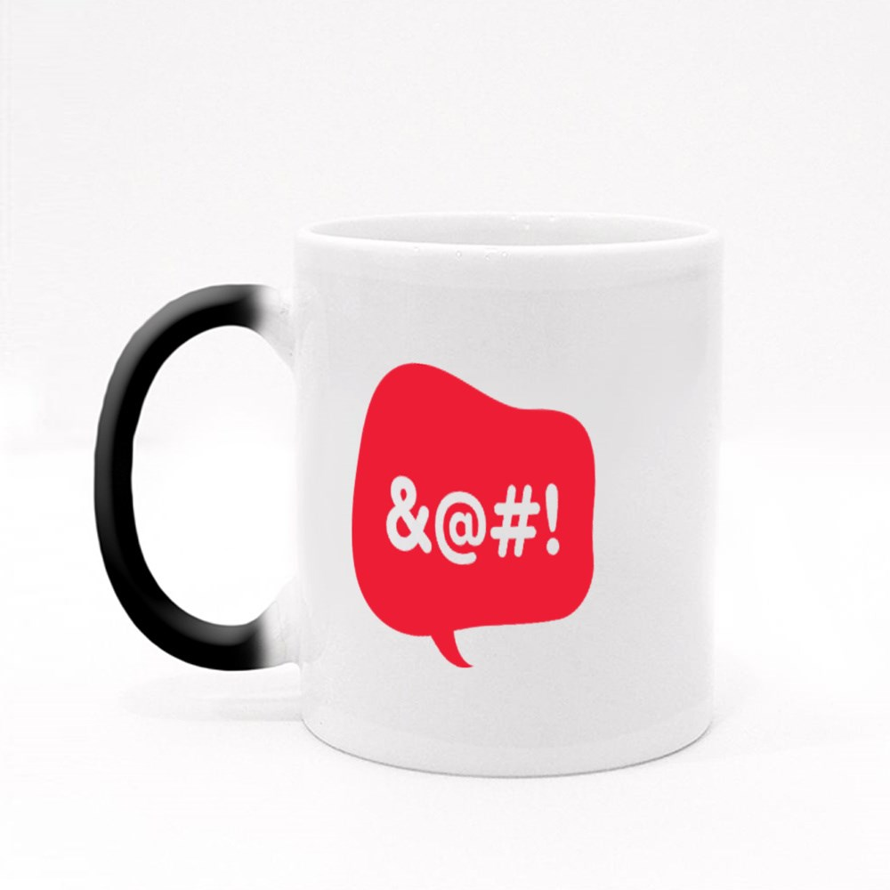 Red Talk Bubble With Censored Text Magic Mugs