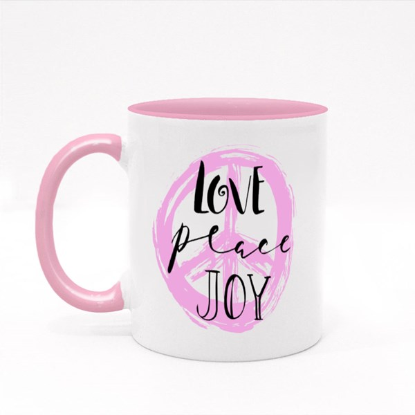 Love, Peace, Joy Quotes,Text Colour Mugs