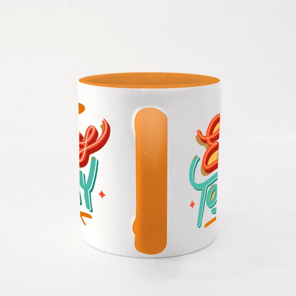 Enjoy Today Vector Lettering Quote Colour Mugs