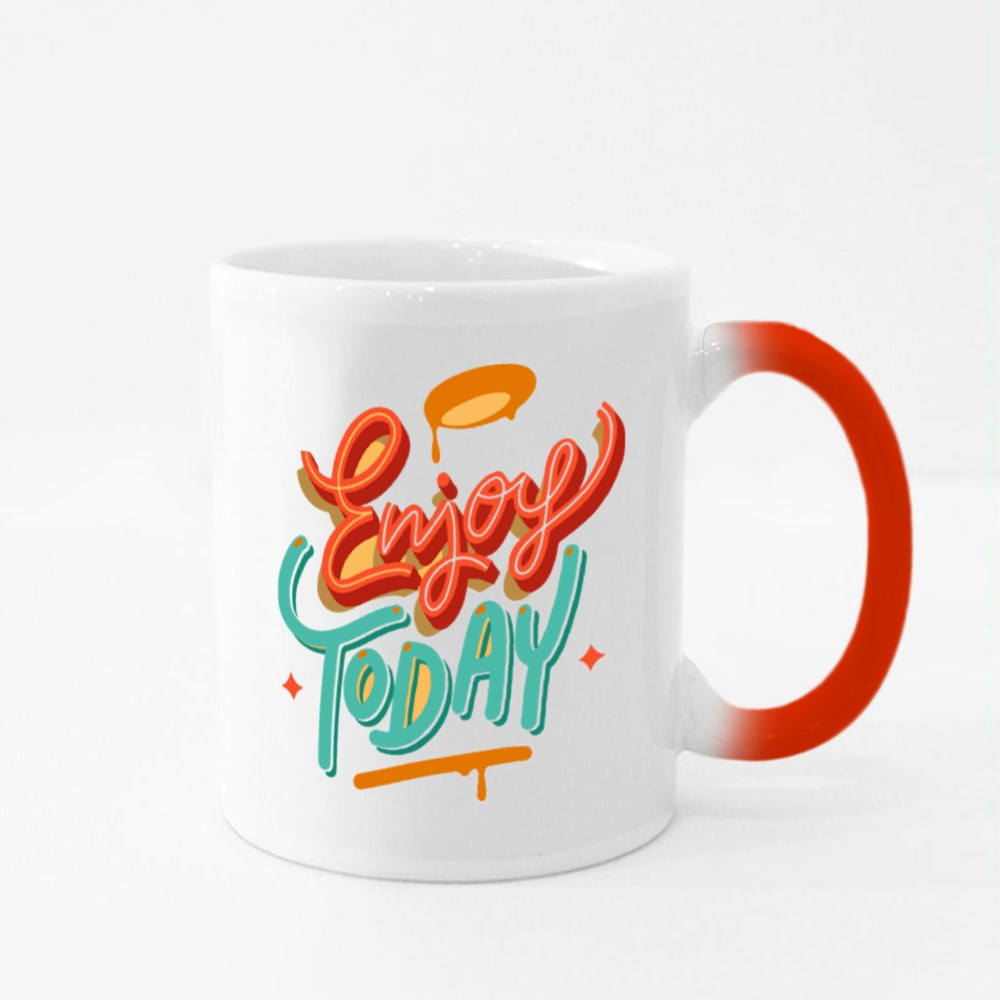 Enjoy Today Vector Lettering Quote Magic Mugs