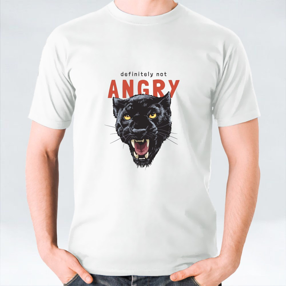 Angry Slogan With Panther Head T-Shirts