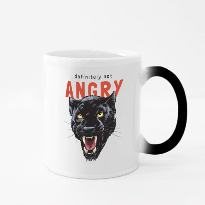 Angry Slogan With Panther Head Magic Mugs