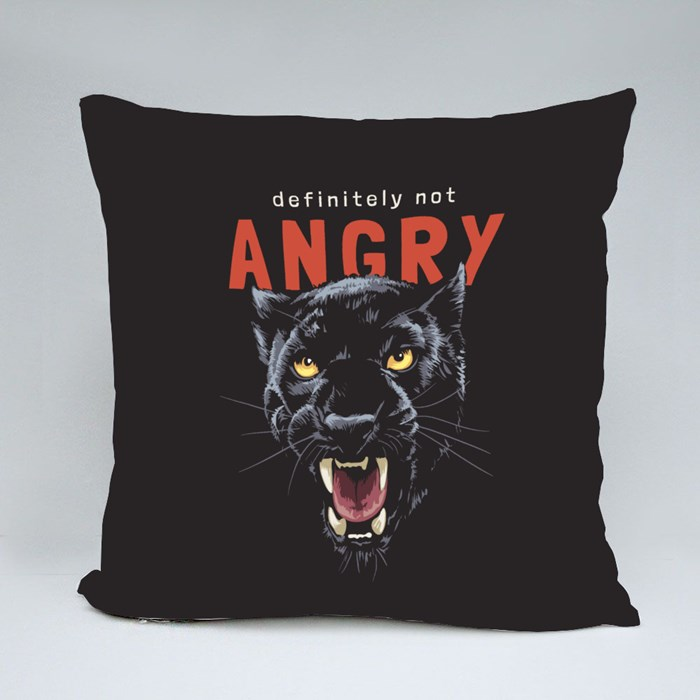 Angry Slogan With Panther Head Throw Pillows
