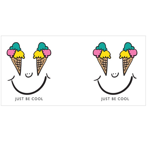 Smiling Face Drawing With Ice Cream Eyes Colour Mugs