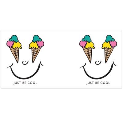 Smiling Face Drawing With Ice Cream Eyes Magic Mugs